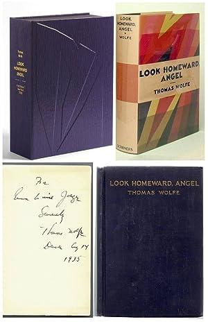 LOOK HOMEWARD ANGEL.Inscribed: Wolfe, Thomas.