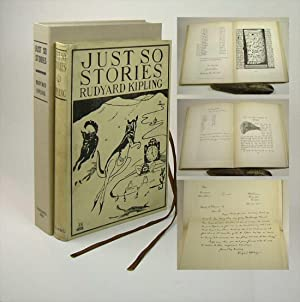 JUST SO STORIES FOR LITTLE CHILDREN. Inscribed: Kipling, Rudyard.