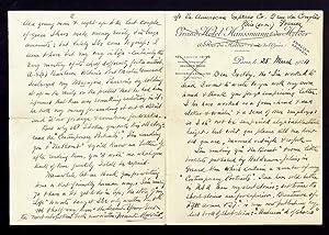 Autographed Letter, 25 March, 1924.: Harris, Frank.