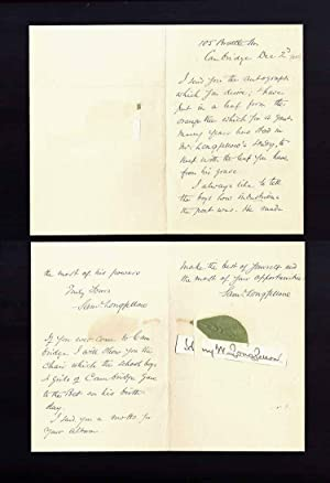 Autograph Letter Signed: Longfellow, Sam (Longfellow,