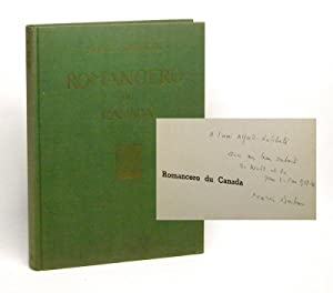 ROMANCERO DU CANADA. (FOLKSONGS OF CANADA). Signed.: Barbeau, Marius. [Alfred