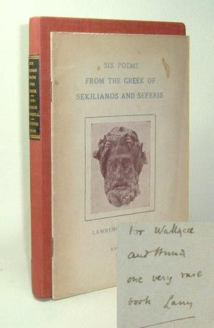 Six Poems from the Greek of Sekilianos: Durrell, Lawrence