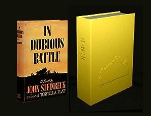 IN DUBIOUS BATTLE. Custom Collector's 'Sculpted' Clamshell: Steinbeck, John.