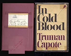 IN COLD BLOOD. Family Presentation Copy.: Capote, Truman.