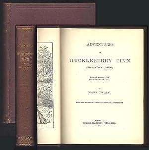 ADVENTURES OF HUCKLEBERRY FINN. (Tom Sawyer's Comrade).: Twain, Mark. [S.