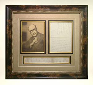 Signed Original Autograph Letter & Photo Display: Gide, André. [Walt