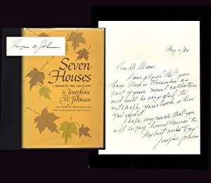 SEVEN HOUSES; A Memoir Of Time And: Johnson, Josephine