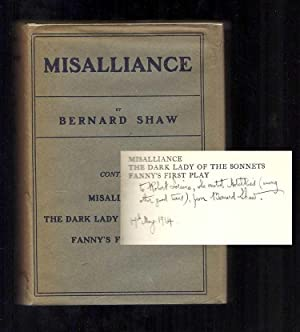 MISALLIANCE. The Dark Lady Of The Sonnets: Shaw, George Bernard