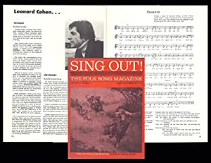 """Suzanne"""" in: SING OUT. The Folk Song Magazine: Cohen, Leonard"""