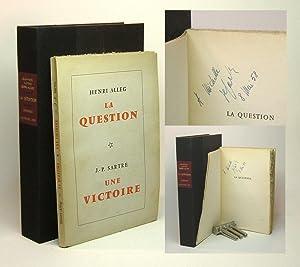 LA QUESTION - UNE VICTOIRE. Signed.: Alleg, Henri &