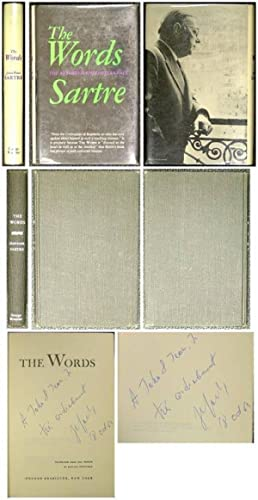 THE WORDS. THE AUTOBIOGRAPHY OF JEAN-PAUL SARTRE. Signed: Sartre, Jean-Paul