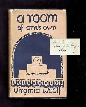 A ROOM OF ONE'S OWN. Leonard Woolf: Woolf, Virginia