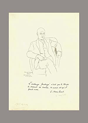 MAX JACOB. Double Signed Litho.: Picasso. Max Jacob.