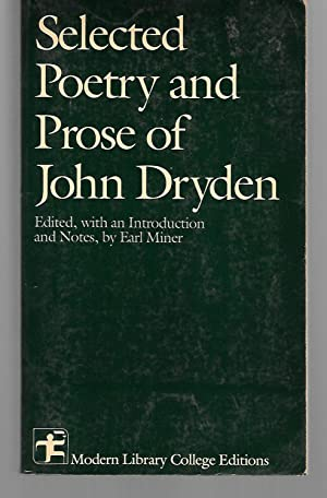 Selected Poetry And Prose Of John Dryden: John Dryden