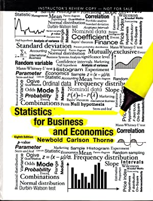 Statistics for Business and Economics (8th Edition): Paul Newbold; William