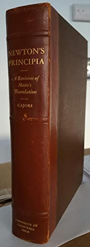 Sir Isaac Newton's Mathematical Principles of Natural: NEWTON, Isaac; CAJORI,