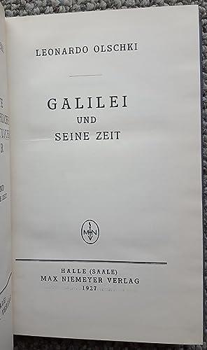 Galilei und seine Zeit. (Presentation copy, inscribed by Olschki to Harlow Shapley.): SHAPLEY, ...