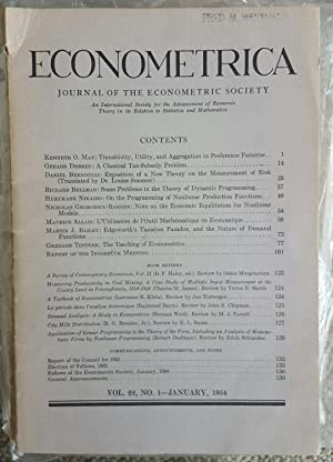 'A Classical Tax-Subsidy Problem'. Pp. 14-22 in: Econometrica, Vol. 22, No. 1, January, ...
