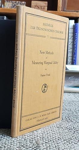 New Methods of Measuring Marginal Utility.: FRISCH, Ragnar (1895-1973):