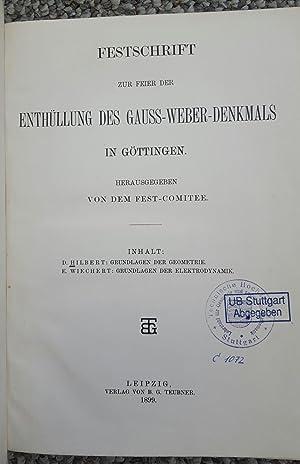 Grundlagen der Geometrie. Pp. 1-92 in: Festschrift zur Feier der Enthüllung des ...