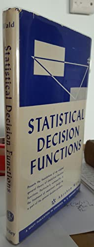 Statistical Decision Functions.: WALD, Abraham (1902-1950):