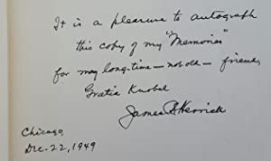 Memories of Eighty Years. [SIGNED BY JAMES B. HERRICK.]: HERRICK, James B. [Bryan] (1861-1954):