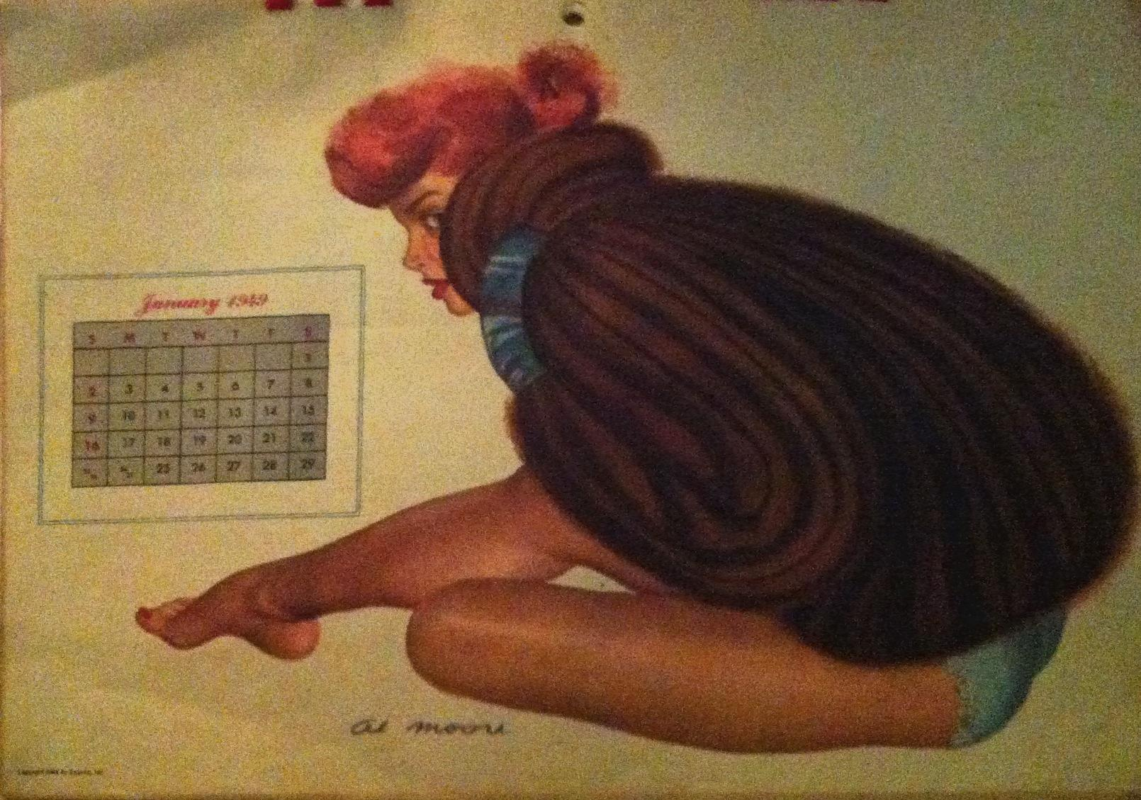 Calendrier Pin Up.Calendrier Pin Up Al Moore Annee 1949