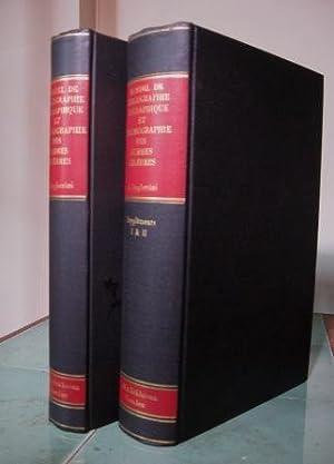 Manuel de bibliographie biographique et d'iconographie des: Anonyme a attribué