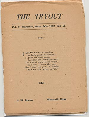 THE TRYOUT. Mar. 1922. Vol. 7, No. 11.