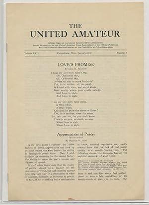 THE UNITED AMATEUR. Jan.,1923. Vol. XXII, No.3.: LOVECRAFT, H.P.)
