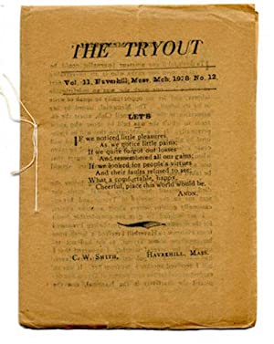 THE TRYOUT. Mar. 1928. Vol. 11, No. 12.