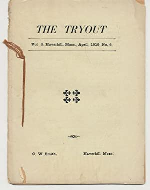 THE TRYOUT. Apr.,1919. Vol. 5, No. 4.