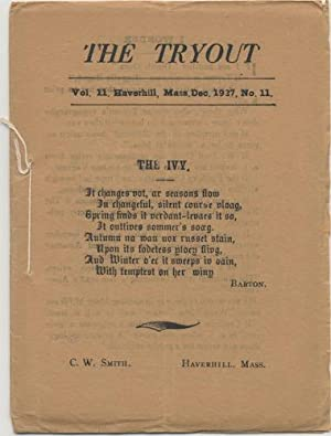 THE TRYOUT. Dec., 1927. Vol 11., No. 11.