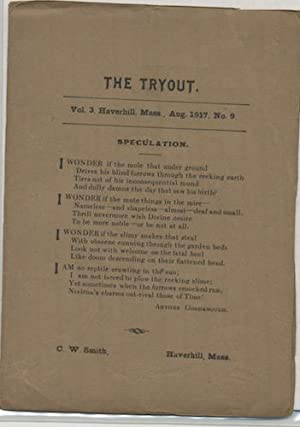 THE TRYOUT. Aug.,1917. Vol. 3, No. 9.