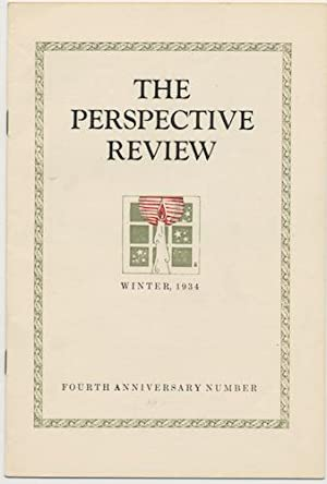 THE PERSPECTIVE REVIEW. Winter, , 1934.