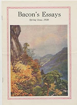 BACON'S ESSAYS. Spring,1930. Vol. 3., No. 1.