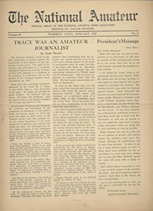 THE NATIONAL AMATEUR. Jan., 1927. Vol., 49, No. 3.
