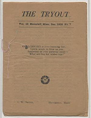 THE TRYOUT. Dec. 1928. Vol.12, No.7.