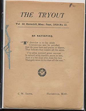 THE TRYOUT. Jun. 1929. Vol. 12, No. 11.