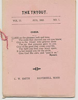 THE TRYOUT. Aug., 1932, VOL 15., NO. 1
