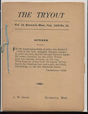 THE TRYOUT. Jul. 1929. Vol. 12, No.12.