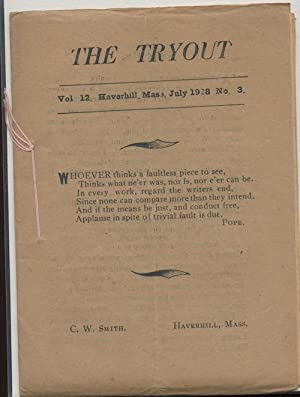 THE TRYOUT. Jul. 1928. Vol. 12, No. 3.