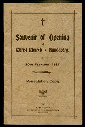 Souvenir of Opening of Christ Church, Bundaberg 20th February 1927