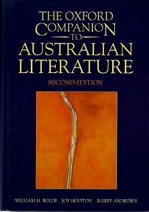The Oxford Companion to Australian Literature: William H. Wilde