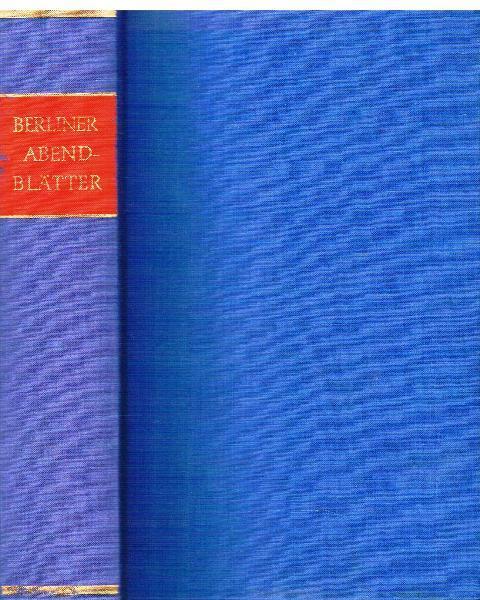 Berliner Abendblätter. Nachwort und Quellenregister von Helmut: Kleist, Heinrich von