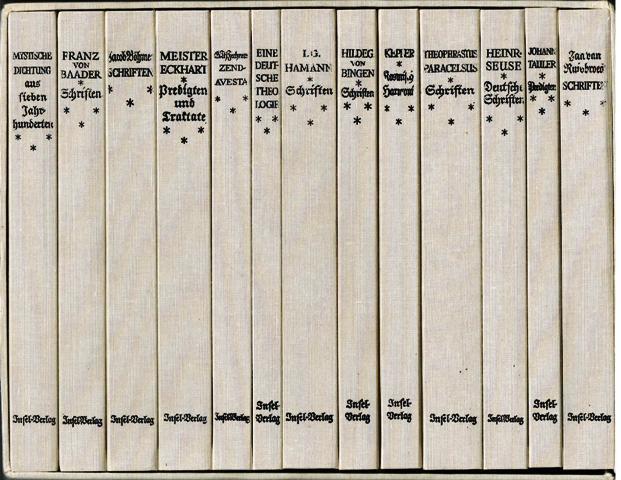 Der Dom. Bücher deutscher Mystik. 13 Bände.