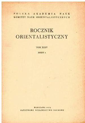 Rocznik Orientalistyczny. Tom XXXV. Zeszyt 1.: Polska Akademianauk, Komitet