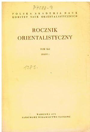Rocznik Orientalistyczny. Tom XLI. Zeszyt 1.: Polska Akademianauk, Komitet