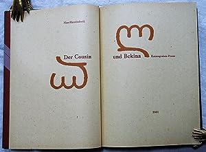Der Cousin und Bekina. [Mit Illustrationen georgischer Lettern von Christian Ewald.]: Nino ...