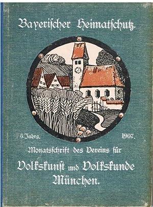Volkskunst und Volkskunde. Monatsschrift des Bayerischen Vereins für Volkskunst und Volkskunde...